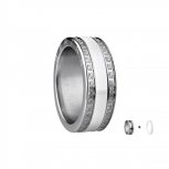 Bering Damenring Silber Ring 2-teilig Set Arctic Symphony Collection Gr.60 H3