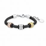s.Oliver Damen Armband 9019274 Silber Lederarmband Armkette