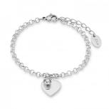 s.Oliver Damen Armband 9023998 Silber Herz Armkette Schmuckarmband