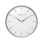 Bering Wanduhr 90292-04R Designer Uhr Bauhausstil Silber Bürouhr