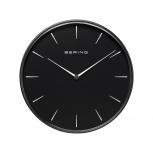 Bering Wanduhr 90292-22R Designer Uhr Bauhausstil Schwarz Bürouhr