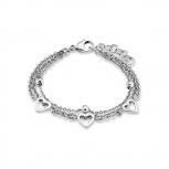s.Oliver Damen Armband 9049677 Armkette Herz Kinderschmuck Silber