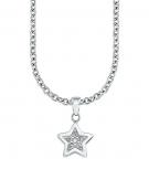 s.Oliver Damen Kette 9054831 Silber Stern Mädchen Halskette Kinderschmuck