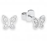 s.Oliver Ohrringe 9233199 Ohrstecker Kinderschmuck Silber Schmetterling