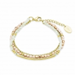 s.Oliver Damen Armband 9292134 Damenarmband Armkette Gold