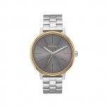 Nixon Damenuhr A099-2477 Kensington Herren Silber Gold Gray Uhr
