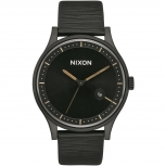 Nixon Herrenuhr A1161-2987-00 Station Leather Leder Unisex Uhr Armbanduhr