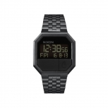 Nixon Herrenuhr A158-001 Re-Run All Black Digital Uhr LCD