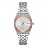 Nixon Damenuhr A399-2632 Small Time Teller Rosegold Silber Uhr Armbanduhr