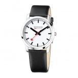 Mondaine Herrenuhr A638.30350.11SBBBahnhof Uhr Schweiz Simply Elegant 6,3 mm Höhe