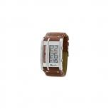MAREA Herrenuhr B35252-2 Alarm Chrono Uhr Silber Beleuchtung Digital