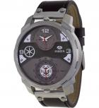 MAREA Herrenuhr B54096-1 Dual Time Leder Zeitzone Uhr