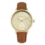 Daisy Dixon London Damenuhr DD051TG Mae Armbanduhr Uhr Leder Gold Satinoptik