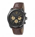 Esprit Herrenuhr ES107571003 Chronograph Armbanduhr Leder Herren Uhr