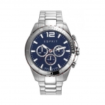 Esprit Herrenuhr ES108351005- Silber Uhr Chronograph Business