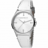Esprit Damenuhr ES1L032L0015 Drops Uhr Silber Leder Armbanduhr
