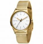 Esprit Damenuhr ES1L034M0075 Essential Uhr Gold Milanaise Armbanduhr