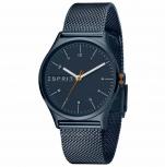 Esprit Damenuhr ES1L034M0105 Essential Uhr Blau Milanaise