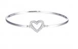 Esprit Damen Armband ESBA01299A Armreif Herz Liebe Love Silber
