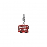 Esprit Anhänger ESCH91078A London Bus Kettenanhänger Doppeldecker Charm Silber