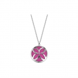 Esprit Damen Kette ESNL12456C ES-Thriving Flora Orchid Pink Halskette