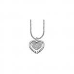 Esprit Damen Kette ESNL91573A Halskette Herz Collier Silber