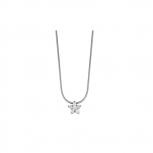 Esprit Damen Kette ESNL92860A Halskette Blume Silber Damenkette