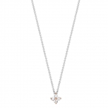 Esprit Damen Kette ESNL93182A Halskette Blüte Collier Silber