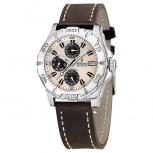 Festina Herrenuhr F16243-2- Sport Multifunktionsuhr Leder Uhr Armbanduhr
