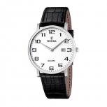Festina Herrenuhr F16476-1- Silber Uhr Armbanduhr Leder