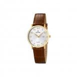 Festina Armbanduhr F16479-2 Damenuhr Gold Uhr Leder