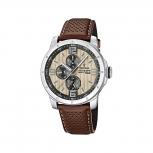 Festina Herrenuhr F16585-6 Multifunktionsuhr Leder Uhr Armbanduhr