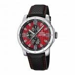 Festina Herrenuhr F16585-7 Multifunktionsuhr Leder Uhr Armbanduhr