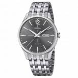 Festina Herrenuhr F20204-2 Armbanduhr Uhr Retro Silber Grau