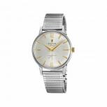 Festina Herrenuhr F20250-2 Armbanduhr Retro kleine Sekunde Silber Uhr