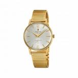 Festina Herrenuhr F20251-2 Armbanduhr Gold Retro kleine Sekunde Uhr