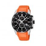Festina Herrenuhr F20330-4 Sport Chronograph Armbanduhr Chrono Uhr Orange