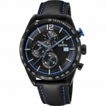 Festina Herrenuhr F20344-4 Sport Chronograph Armbanduhr Blau Chrono Uhr