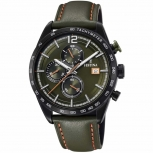 Festina Herrenuhr F20344-6 Sport Chronograph Armbanduhr Olive Chrono Uhr