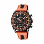 Festina Herrenuhr F20351-5 Sport Chrono Armbanduhr Uhr Orange