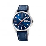 Festina Herrenuhr F20358-3 Leder Armbanduhr Uhr Datum Blau