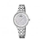 Festina Damenuhr F20382-1 Silber Uhr Armbanduhr Leder Schmuckuhr Mademoiselle