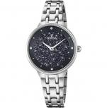 Festina Damenuhr F20382-3 Silber Uhr Armbanduhr Leder Schmuckuhr Mademoiselle
