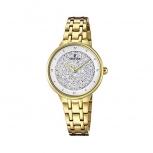 Festina Damenuhr F20383-1 Gold Uhr Armbanduhr Leder Schmuckuhr Mademoiselle