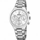 Festina Damenuhr F20391-1 Schmuckuhr Silber Uhr Armbanduhr Chrono