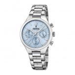 Festina Damenuhr F20391-3 Schmuckuhr Silber Uhr Armbanduhr Blau Chrono