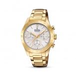 Festina Damenuhr F20400-1 Schmuckuhr Gold Uhr Armbanduhr Chrono Diamond