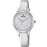 Festina Damenuhr F20409-1 Silber Uhr Armbanduhr Leder Schmuckuhr