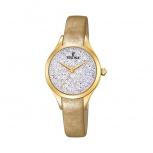 Festina Damenuhr F20410-1 Silber Uhr Armbanduhr Leder Schmuckuhr