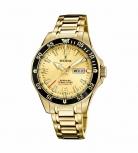 Festina Herrenuhr F20479-1 Automatik Armbanduhr Uhr Mechanisch Saphirglas Gold